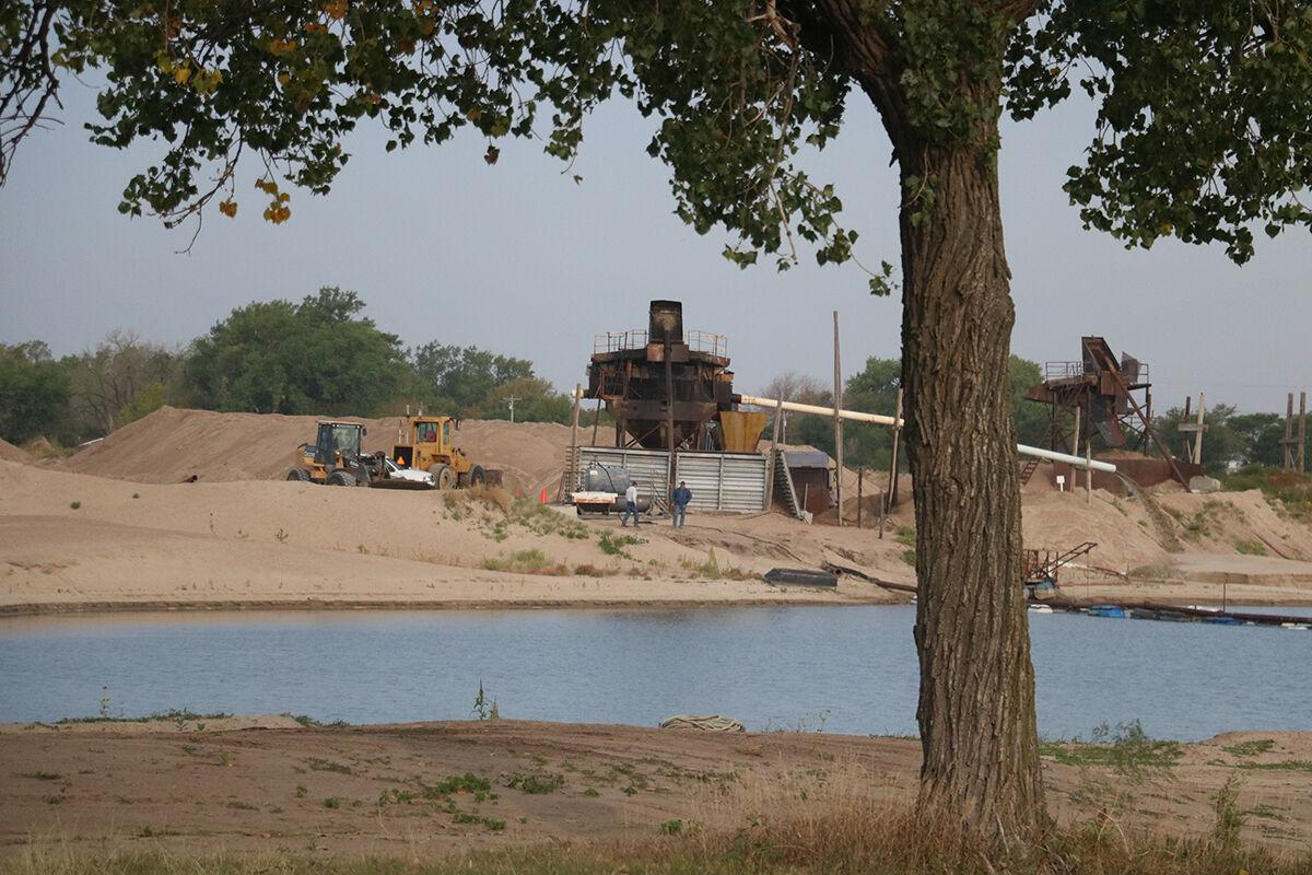Sand and gravel pit