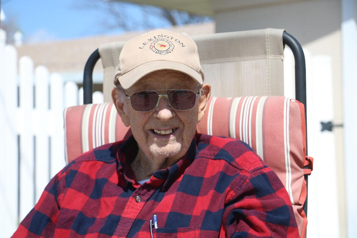 Lexington firefighters honor retiree Dean Wheeler for his historic 61 years of service