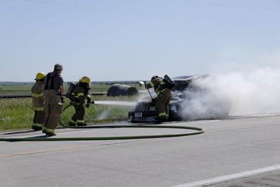 Highway 30 car fire