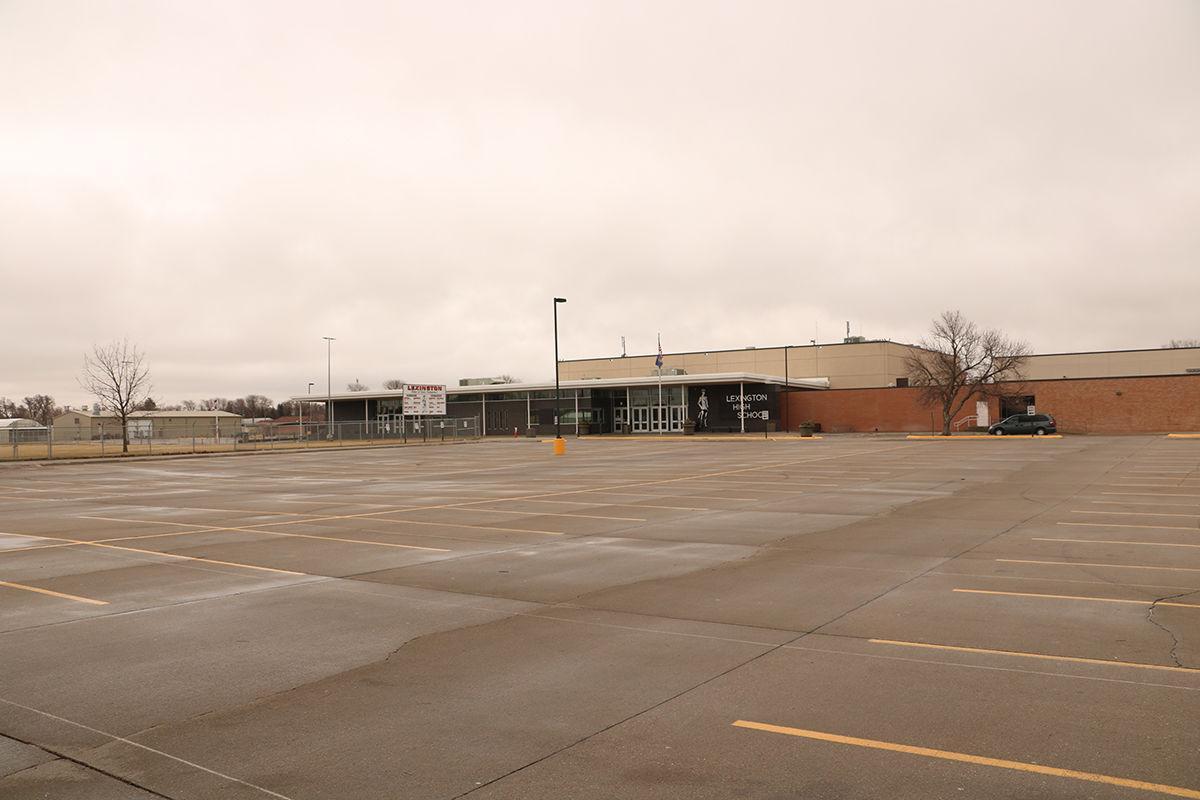 LHS parking lot empty