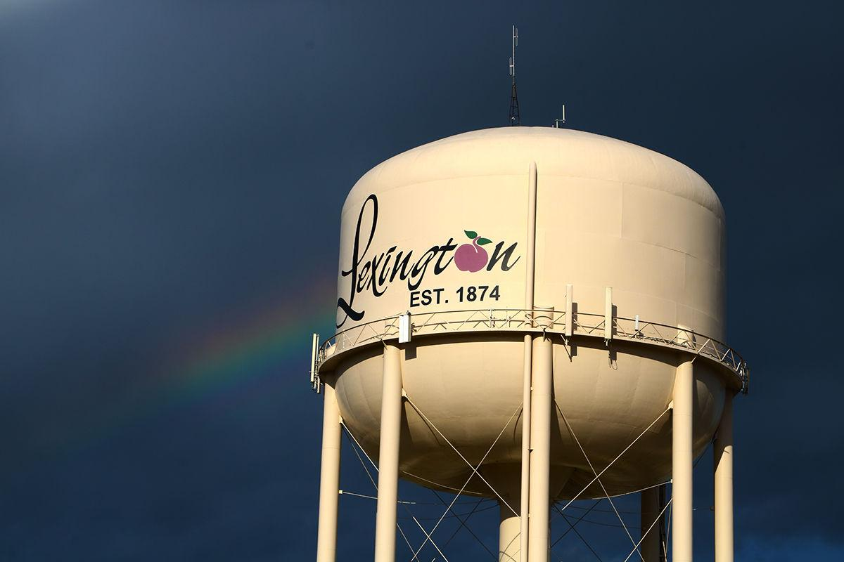 Rainbow and watertower