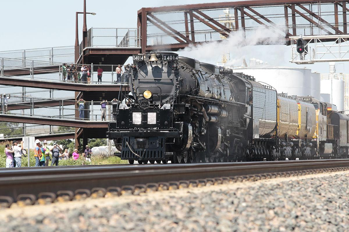 World's largest, most powerful steam locomotive visits