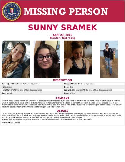 FBI Seeking information on Missing Trenton woman,  Sunny Sramek