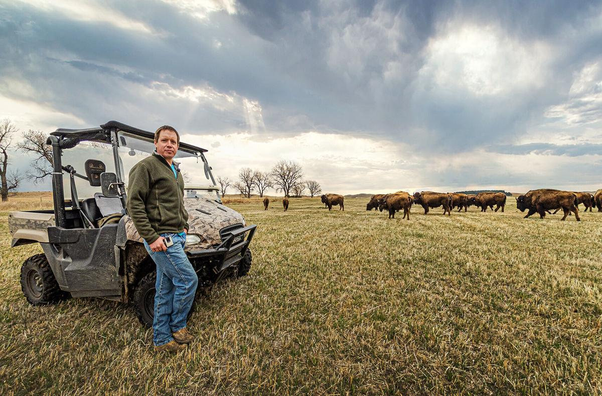 Jimmy Doyle on bison range
