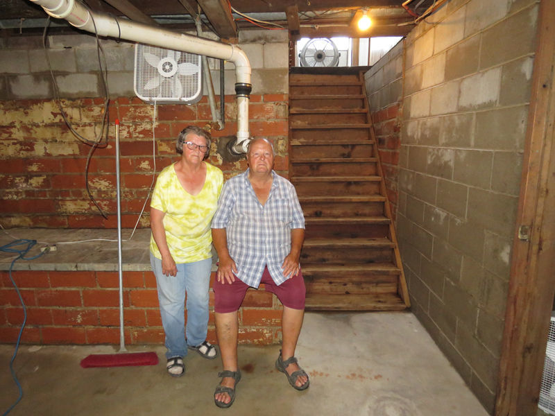 Judy and Mike Montgomery Gibbon flood