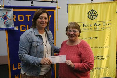 Lexington Rotary Club donates $1,000 to Dawson County Children's Museum