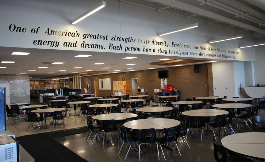 renovated high school cafeteria