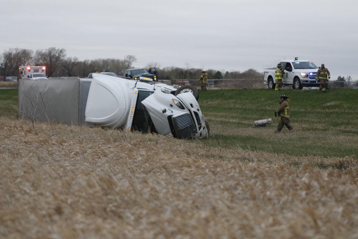 Semi accident near Johnson Lake.