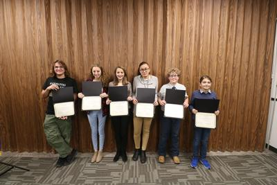 Students recognized for their scholastic work this fall