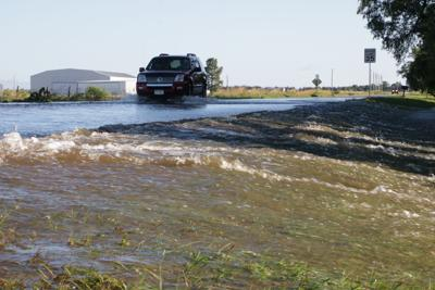 Flood waters Airport Road
