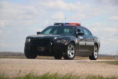 Nebraska State Patrol cruiser rural area