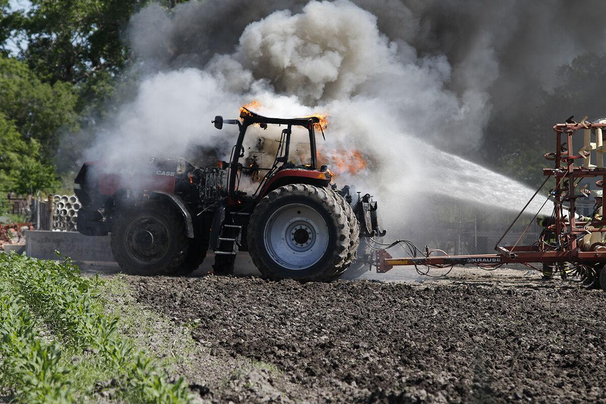 LVFD fights tractor fire