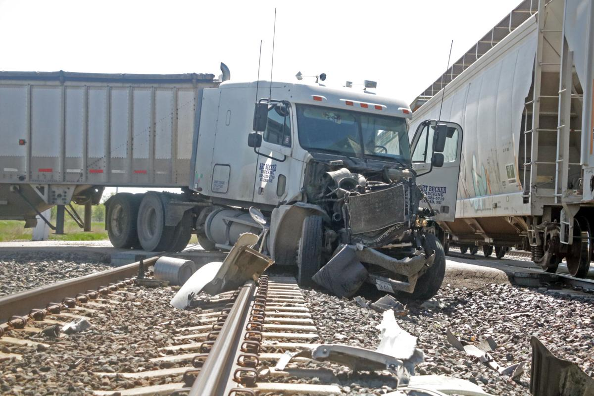 Art Becker Trucking semi-truck struck by Union Pacific train