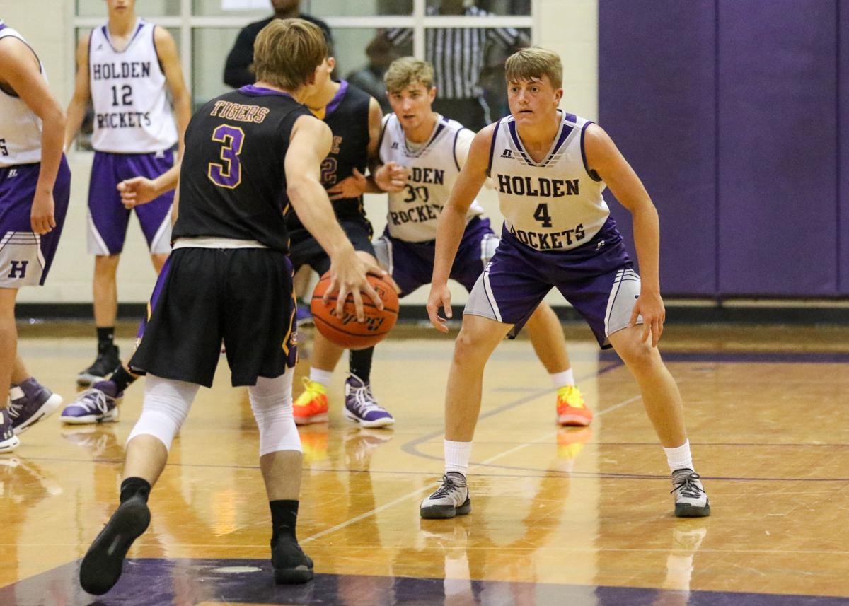 Doyle summer basketball vs. Holden: Braden Keen (3), Nick Forbes (4) of Holden High