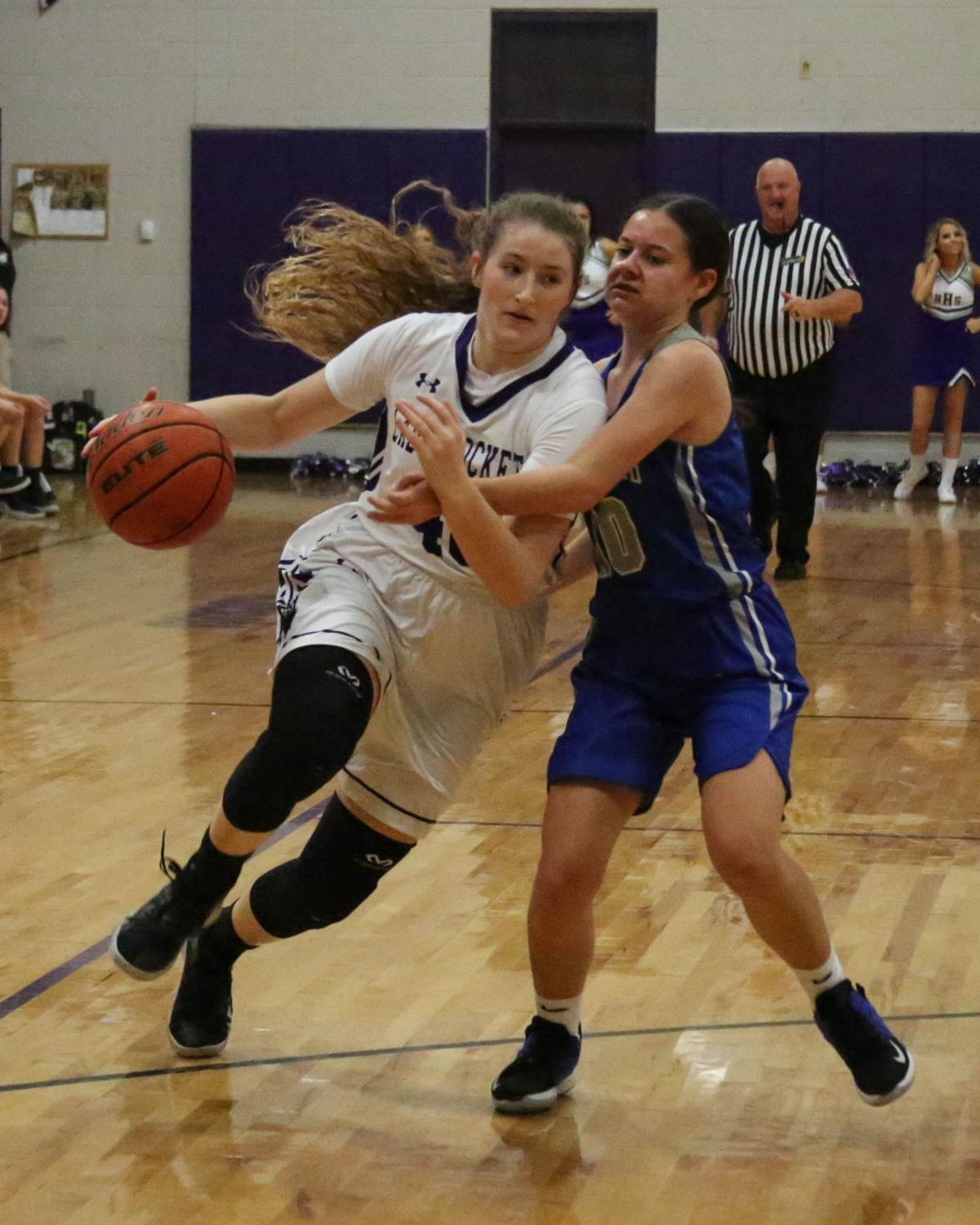 Holden vs Springfield girls 11/22/19 Jayce Hughes (40 Blair Simon (10)