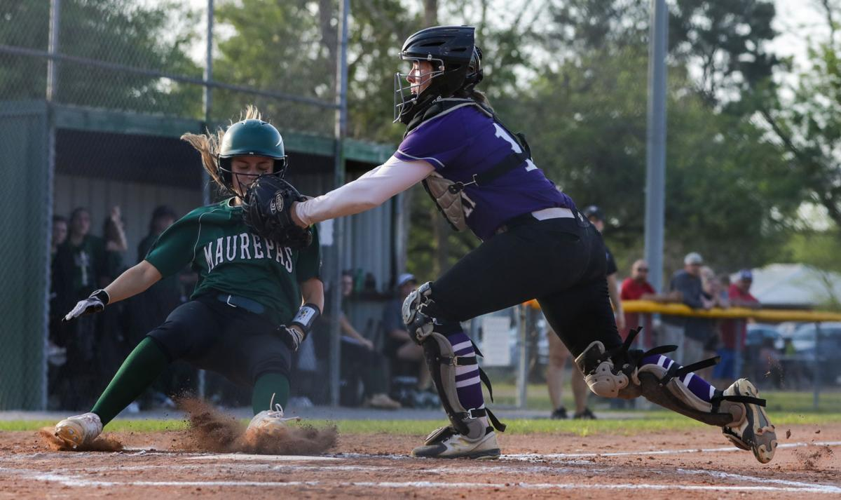 Maurepas at DSHS softball Emma Hymel Sarah Crawford