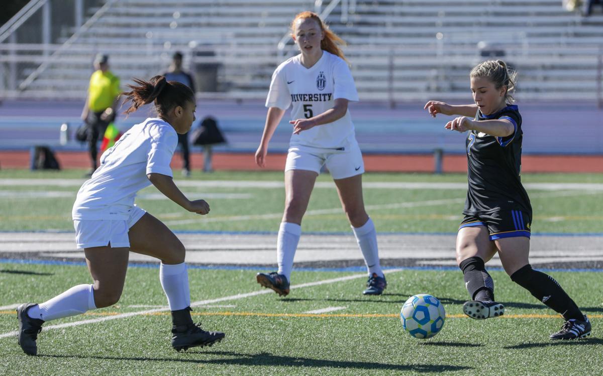 University High at Live Oak girls Soccer Alicia Carlos Aniya Ingram