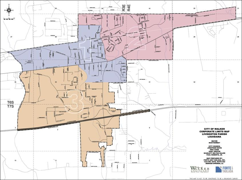 City Of Walker Finalizes Adopts Voting Districts News Livingstonparishnews Com