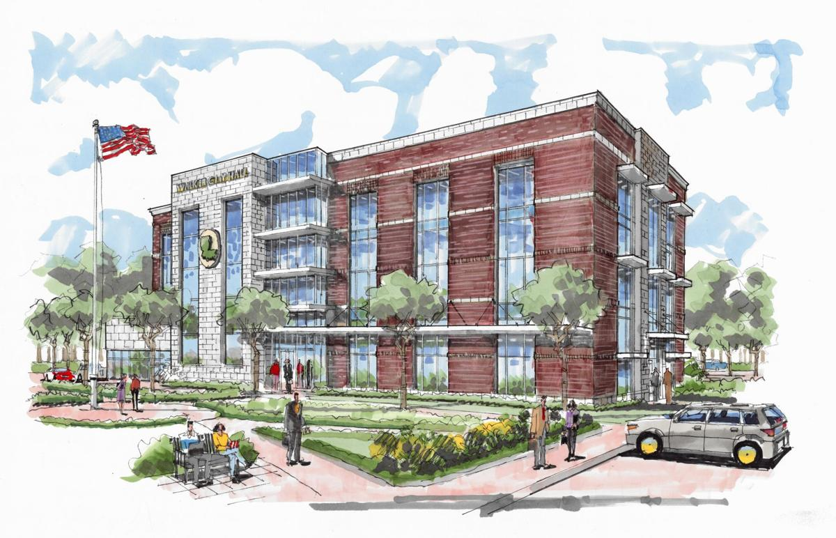 Walker City Hall drawing