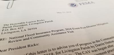 FEMA letter
