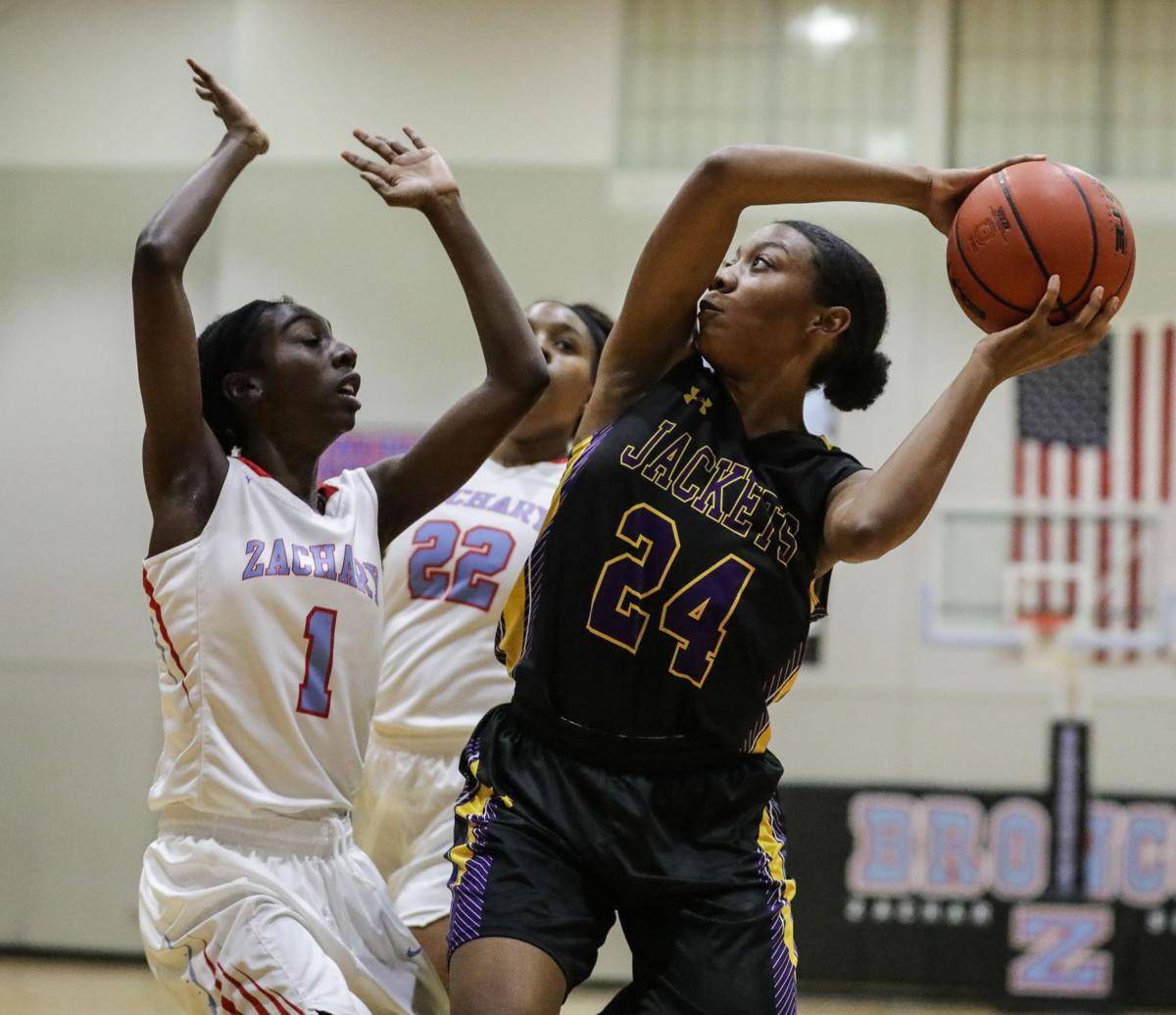 DSHS at Zachary girls basketball Jala Robinson Zoa Adams