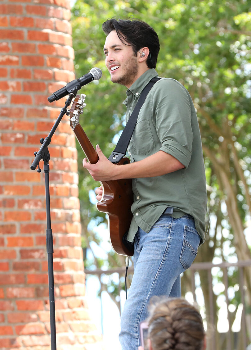 Laine Hardy performs in Lake Charles