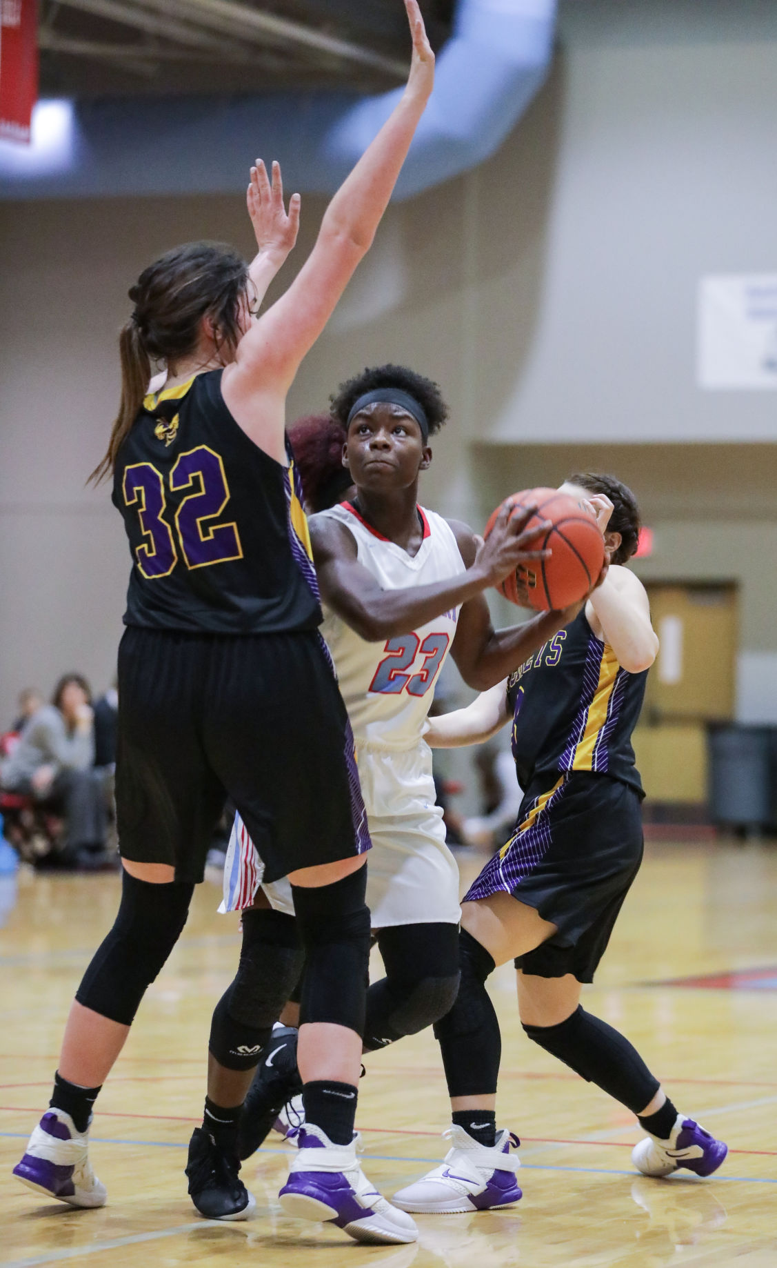 DSHS at Zachary girls basketball Osha Cummings Kate Thompson