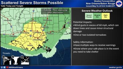 Livingston Parish under tornado watch unil 11 a m , National