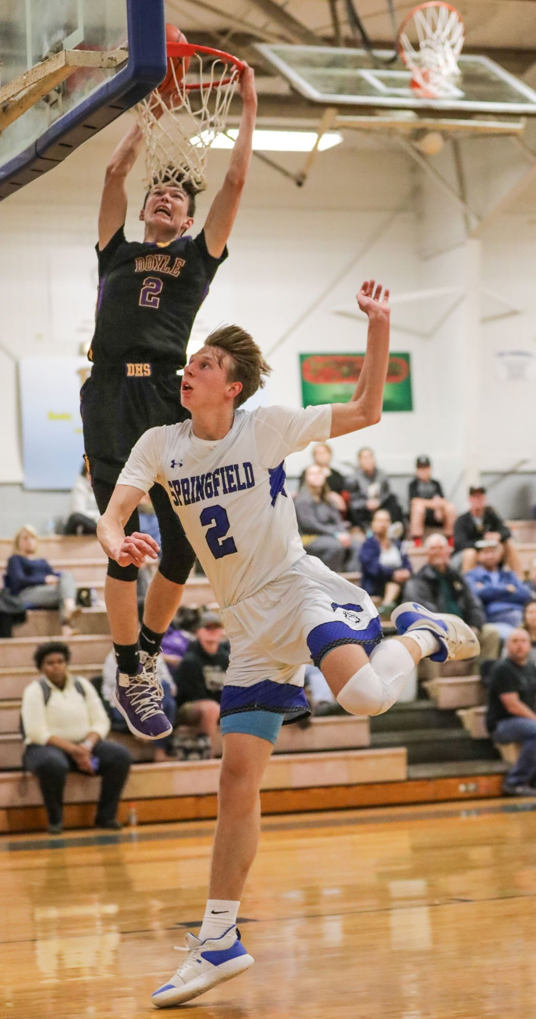 Doyle at Springsfield basketball Andrew Yuratich Bryce Johnson