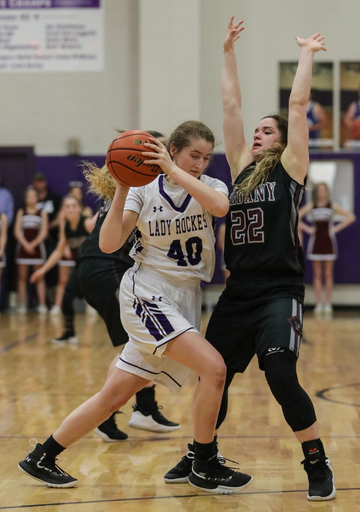 Albany at Holden girls basketball Jaycee Hughes Maddy Oubre