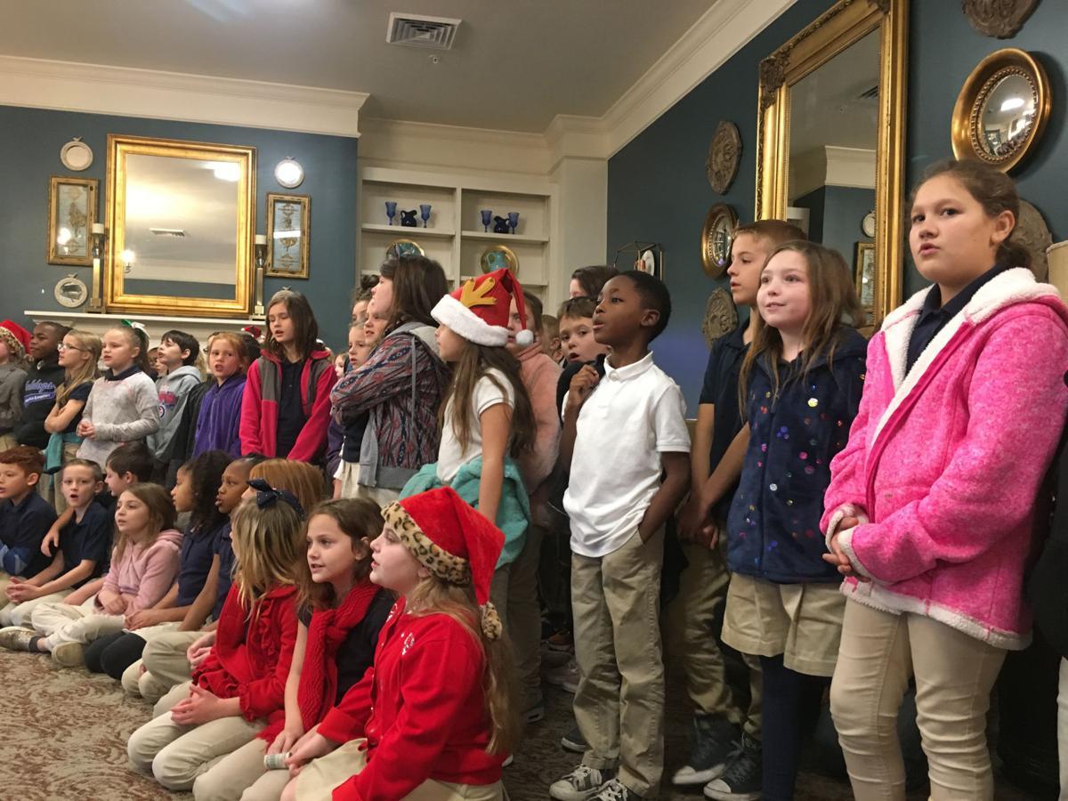 Springfield Elementary School students sing carols