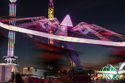 Livingston Parish Fair ride blur