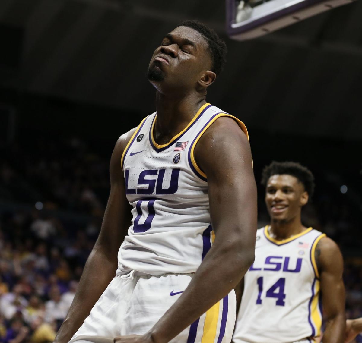 LSU forward Darius Days (0) enjoys the moment following a basket..jpg