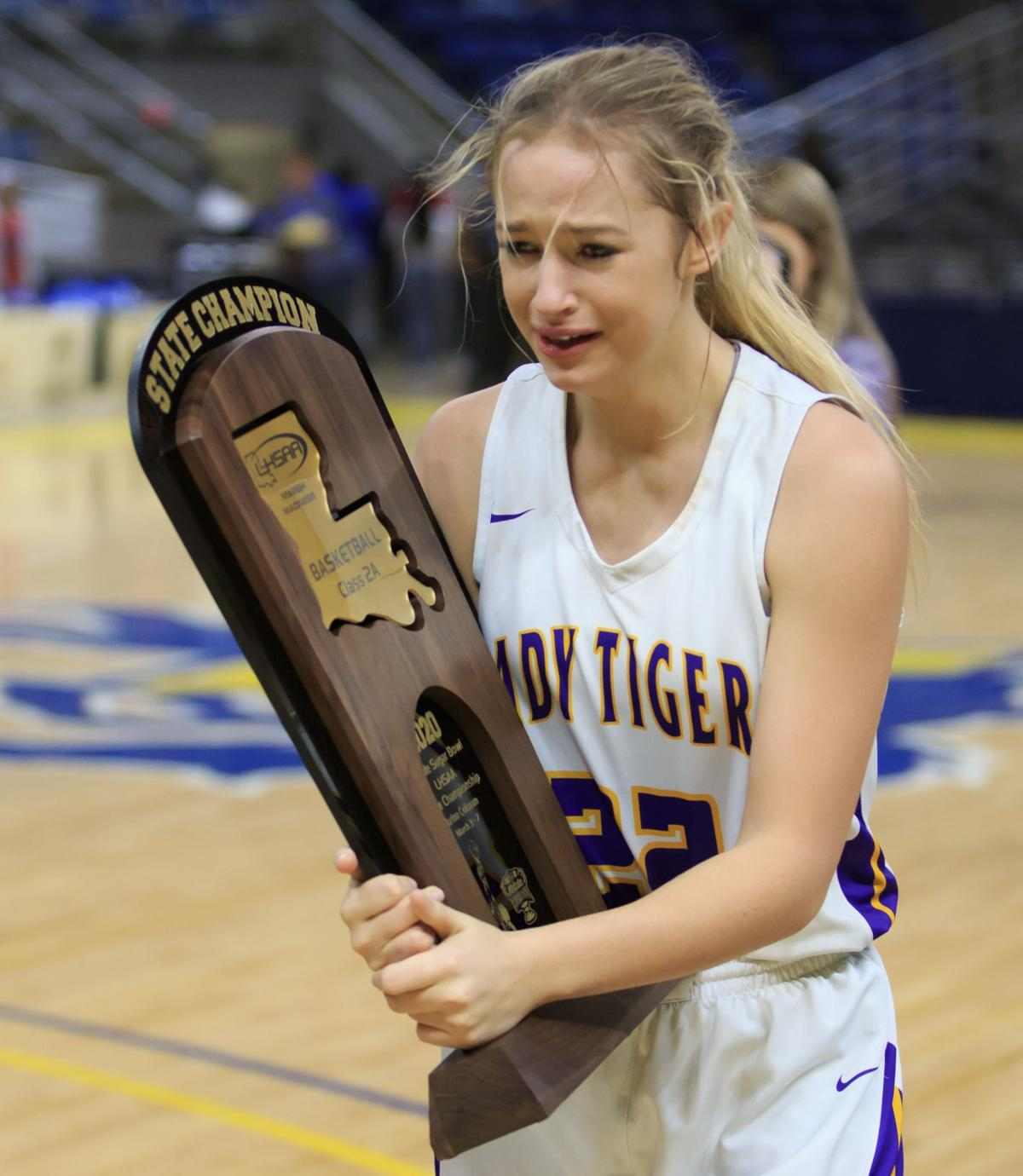 Doyle's Meghan Watson with state title trophy.jpg