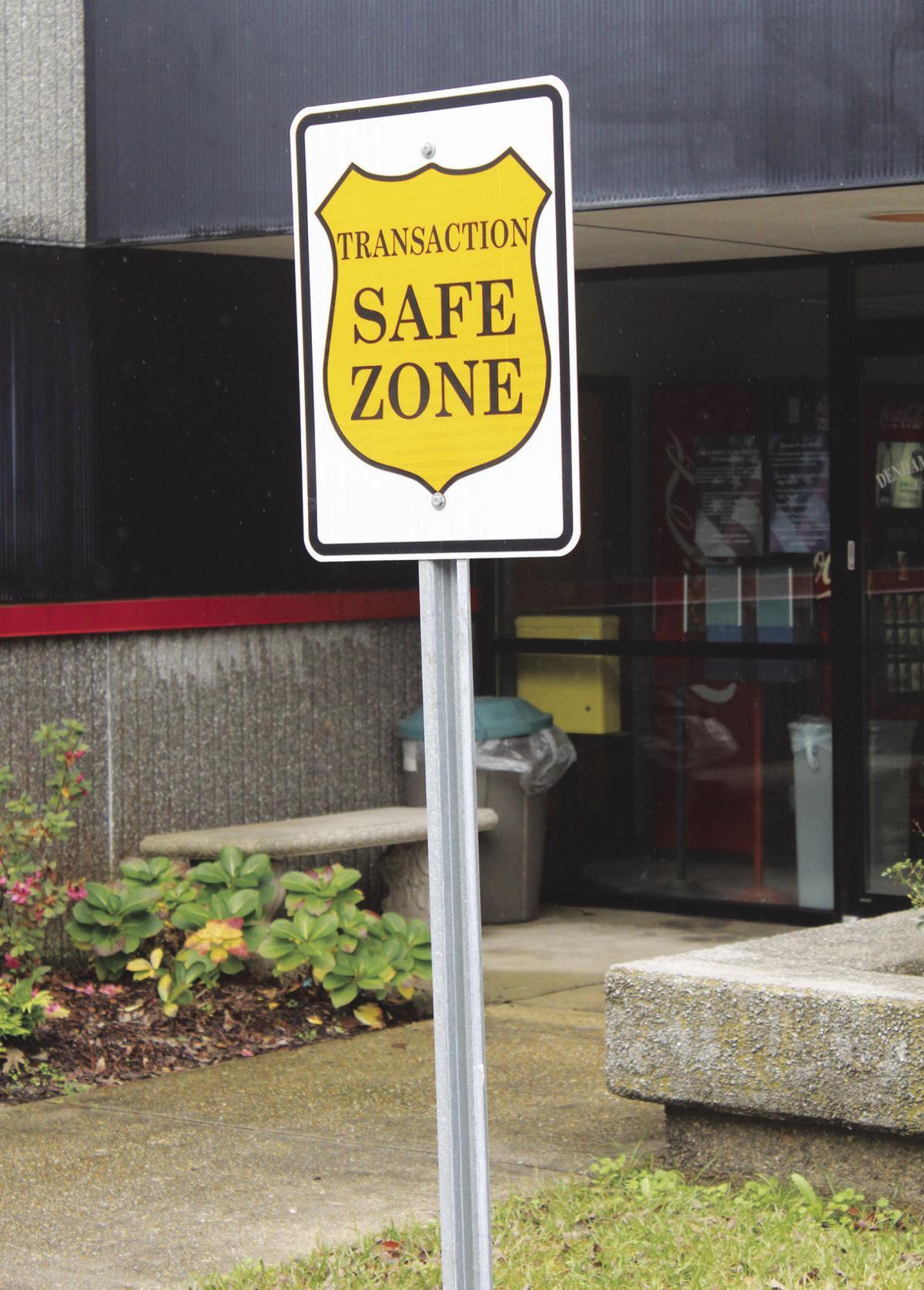 safe zone sign