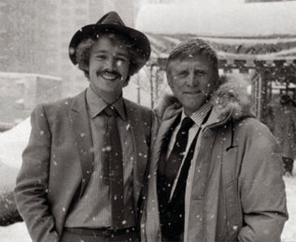 John Schneider and Kirk Douglas