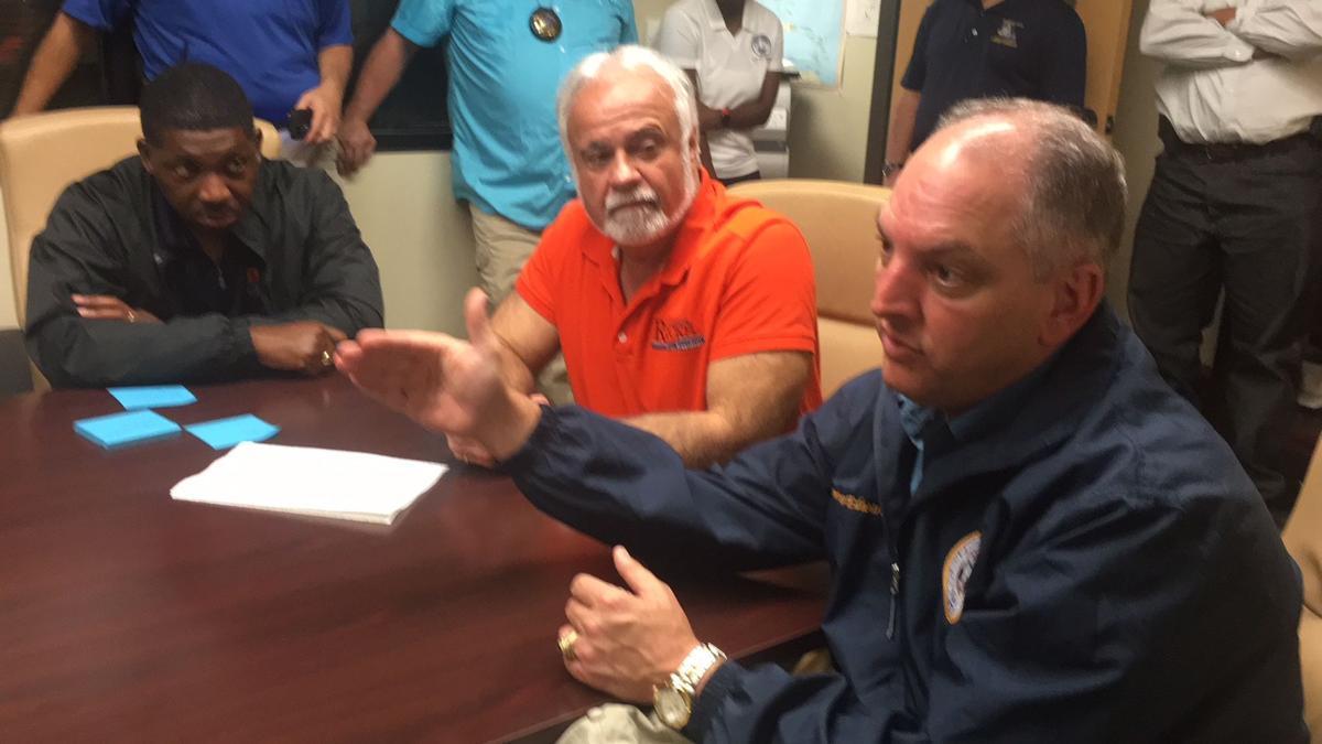 Governor Edwards, DOTD Secretary Meet with Parish President