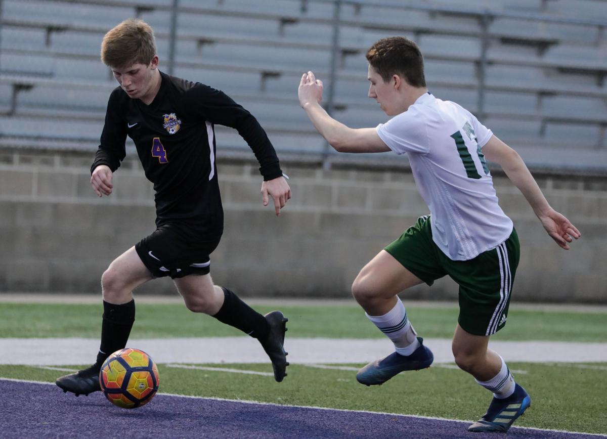 Captain Shreve at Denham Springs boys soccer Brennan Amato
