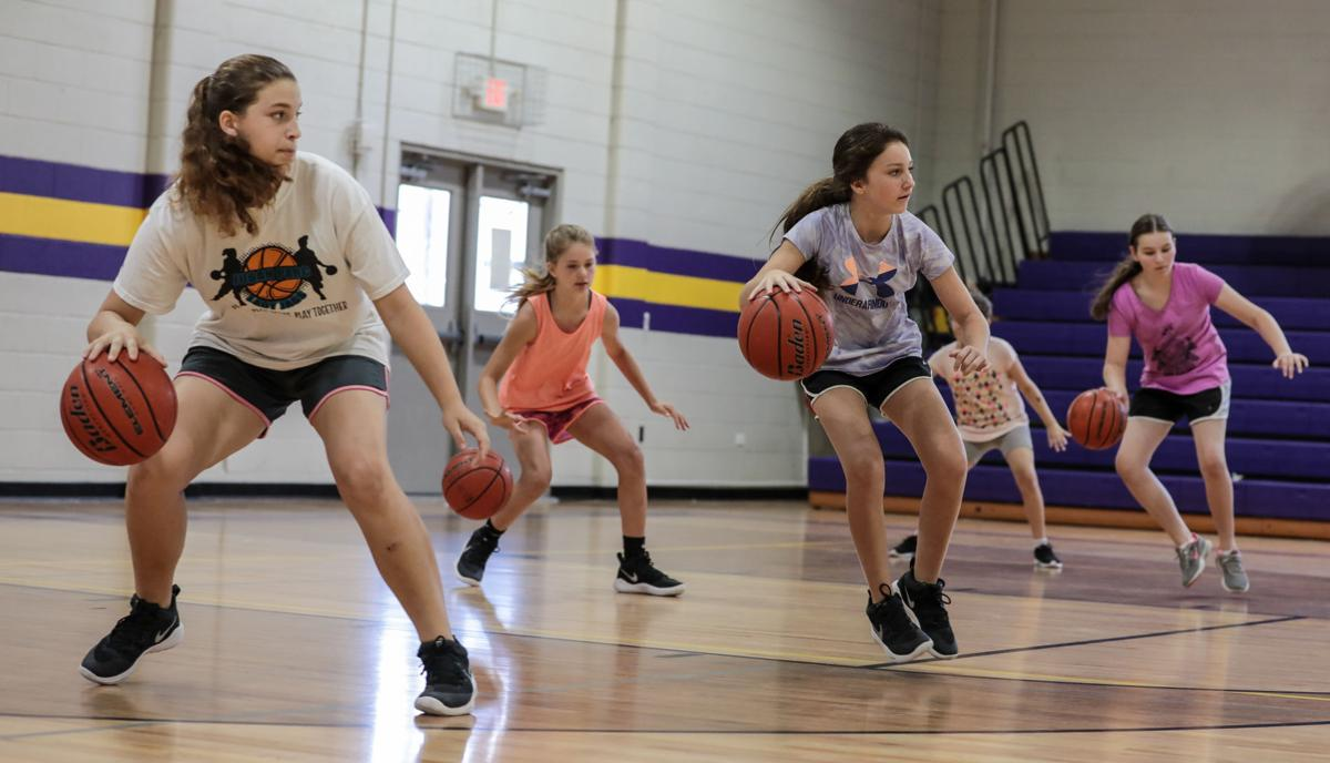 DSHS girls basketball camp Alyssa Lloyd Raegan White