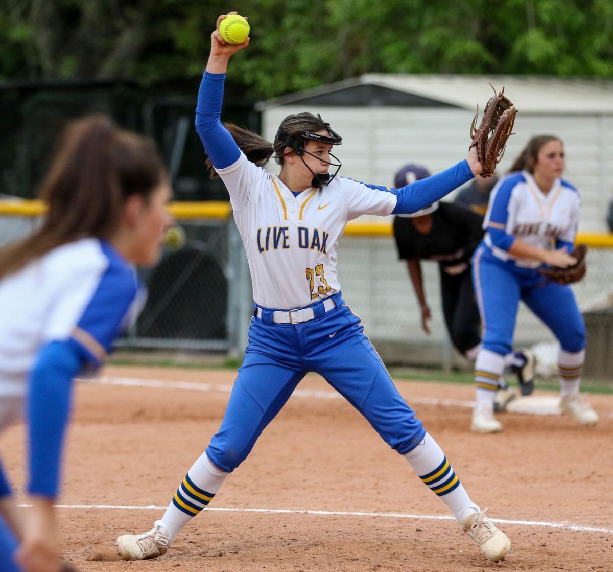 Live Oak vs Denham Springs Softball: Emalea Dimaio
