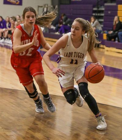 Midland at Doyle girls basketball Presleigh Scott