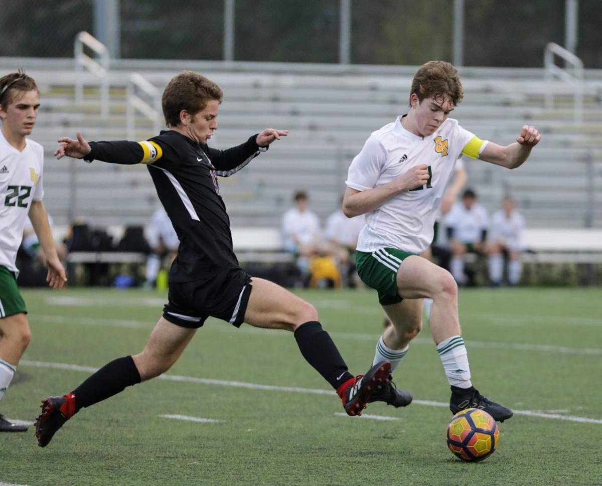 Captain Shreve at Denham Springs boys soccer Collin Turner