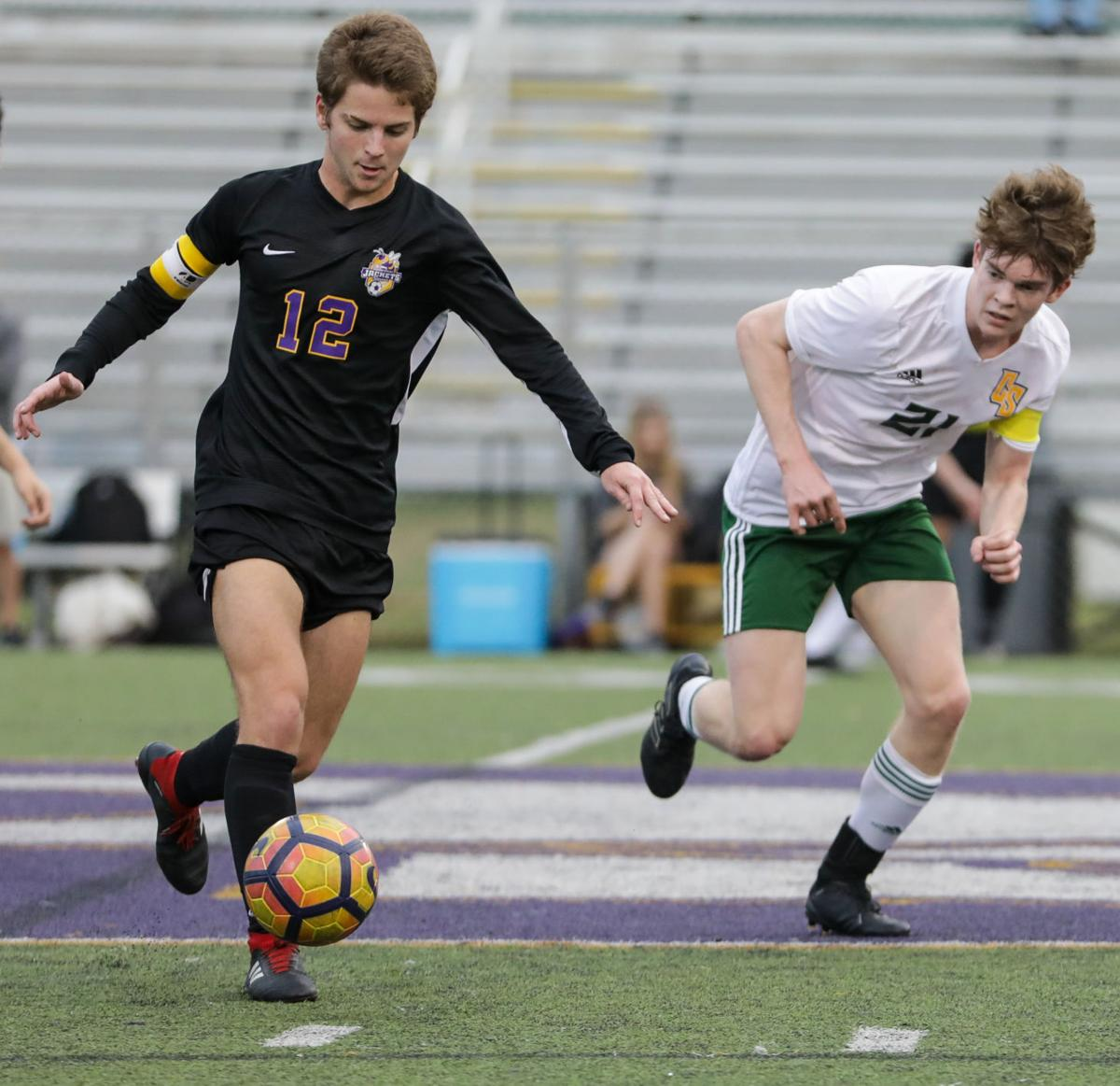 Captain Shreve at Denham Springs boys soccer Collin Turner