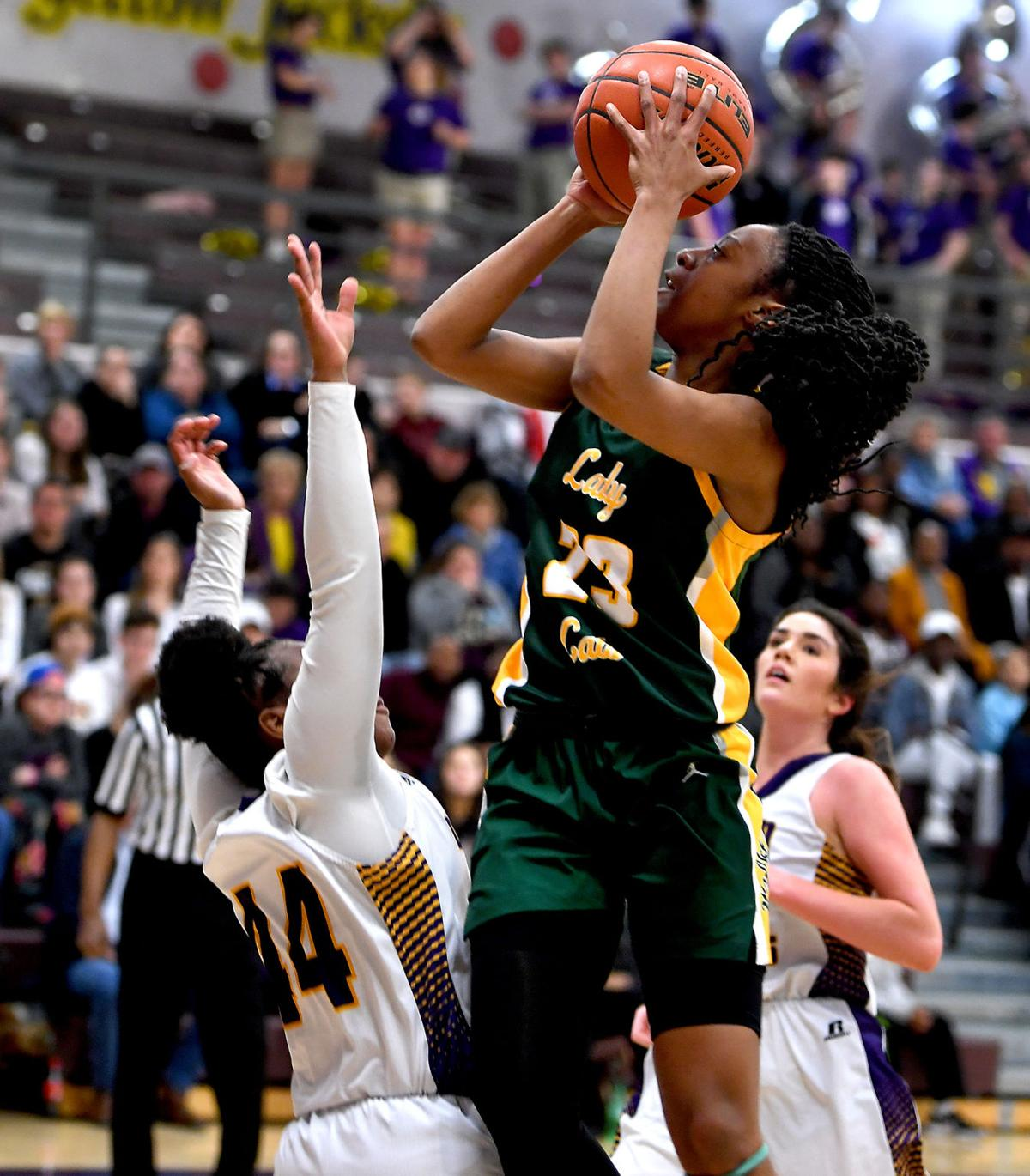 Walker at Denham Springs girls basketball Tiara Young