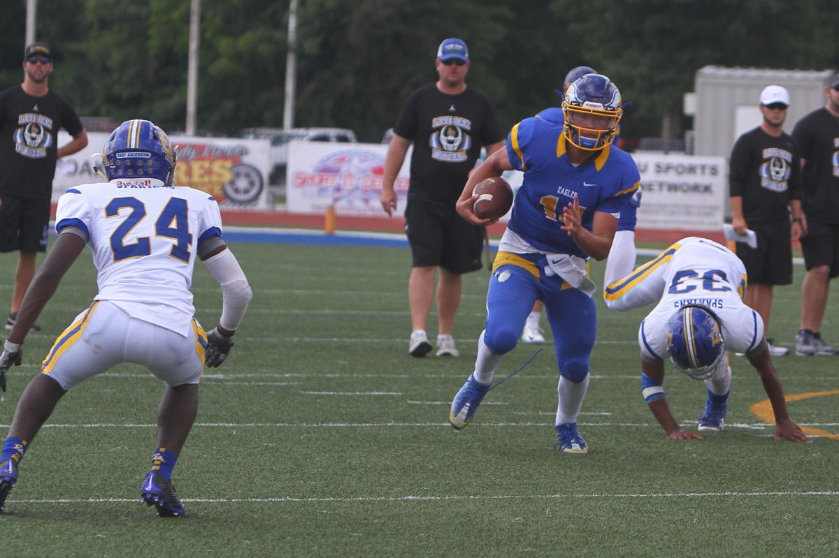 EA at Live Oak football scrimmage Sal Palermo