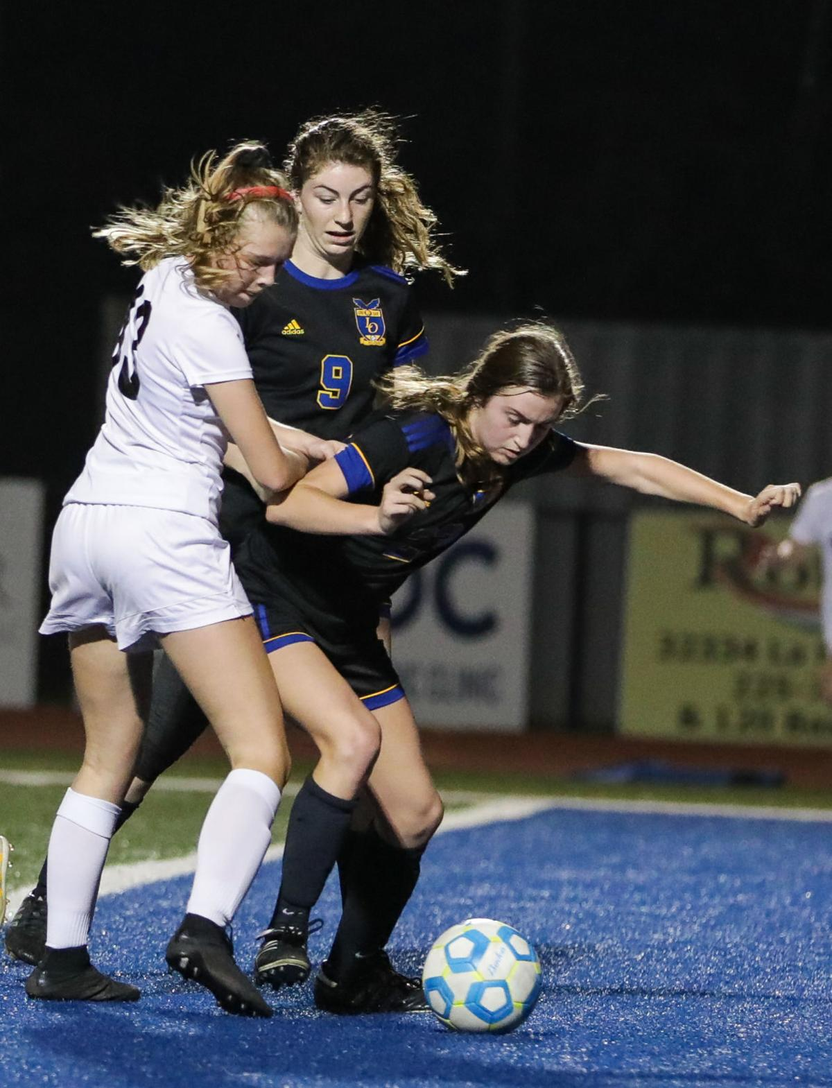 Lakeshore at Live Oak girls soccer Jenna Magee Abby Rink