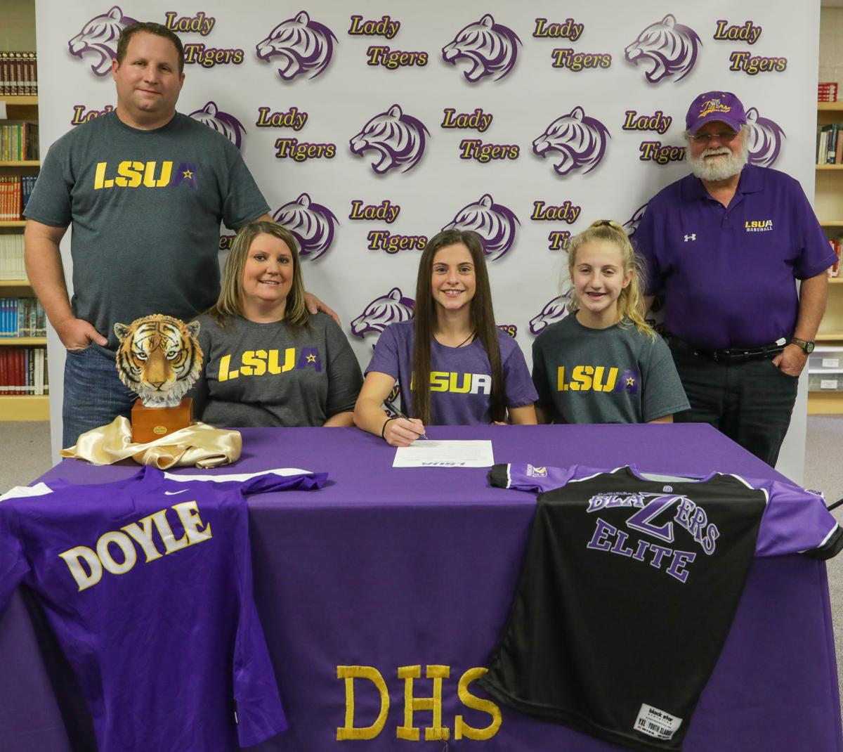 Gabrielle Lucia signs with LSU Alexandria family