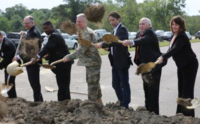 Comite Diversion Canal groundbreaking