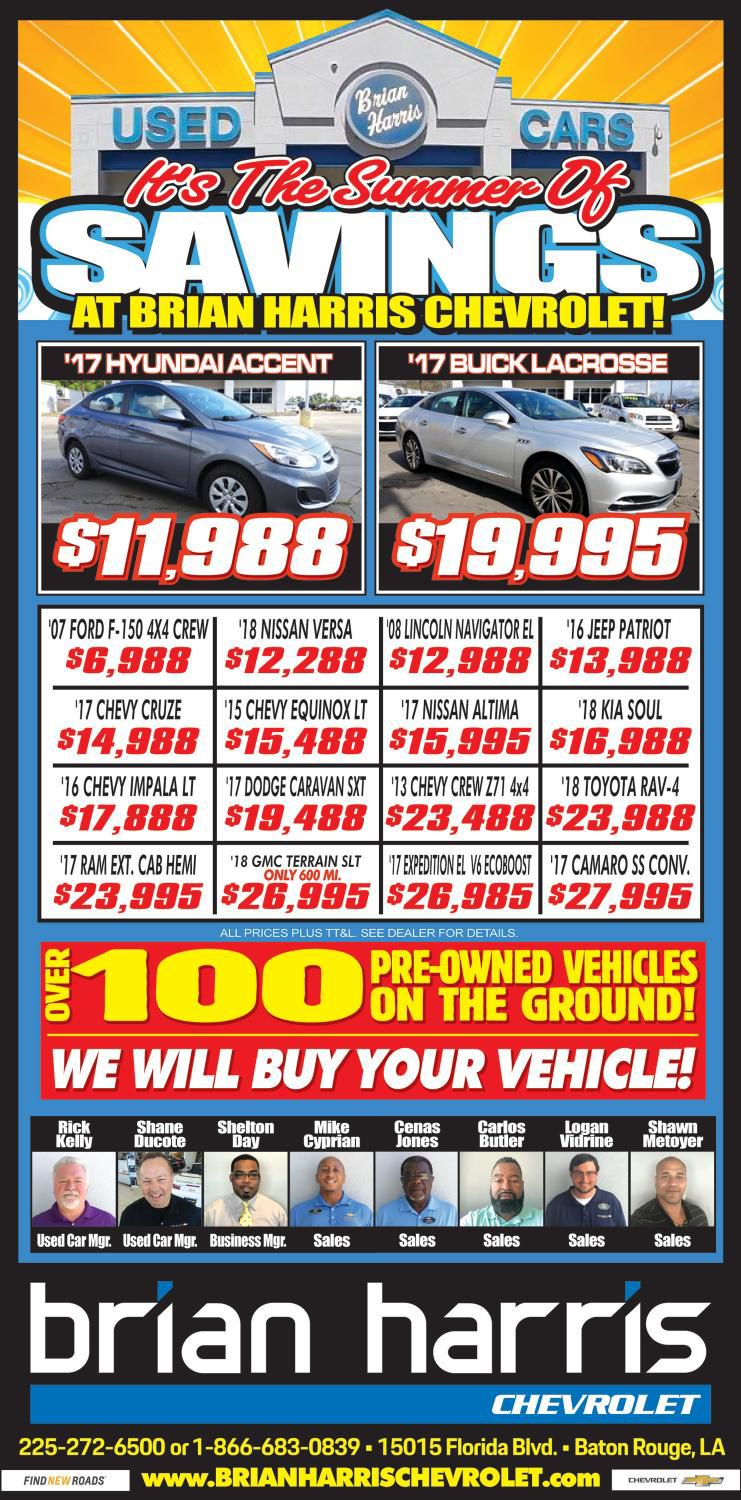 Brian Harris Chevrolet >> Brian Harris Sports Section 6 14 18 Pdf This Week S Ads