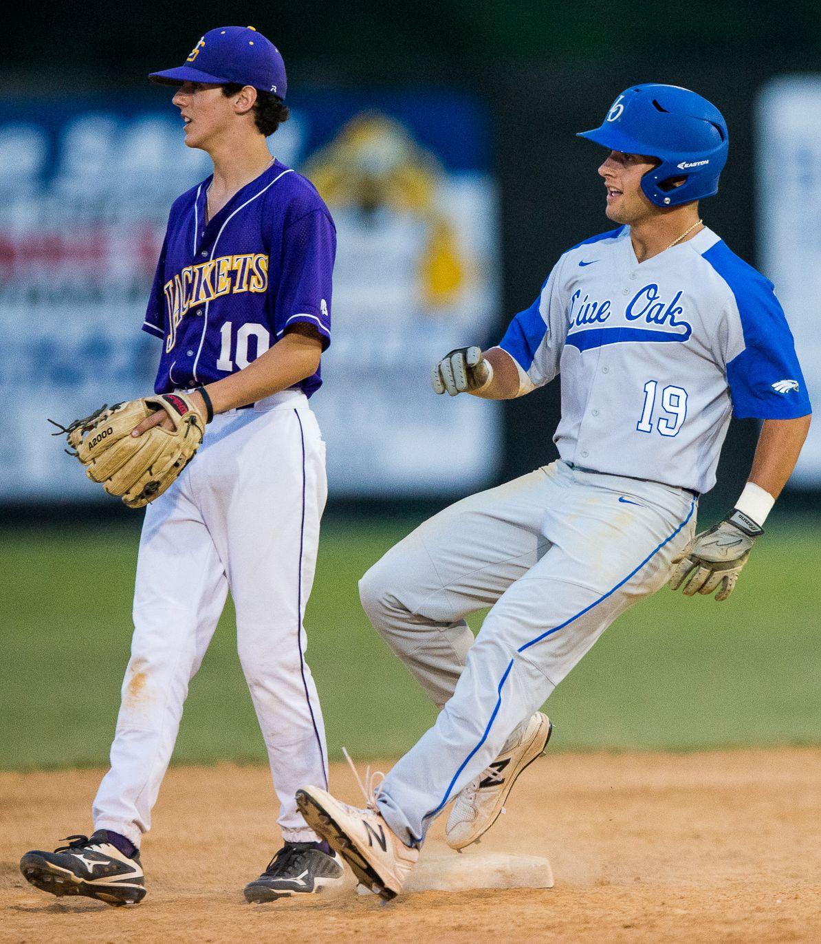 Live Oak-DSHS baseball Nick Cacioppo Nick Moreau